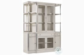 La Scala Ivory And Nickel China Cabinet