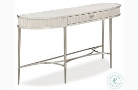 La Scala Ivory And Nickel Console Table