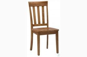 Simplicity Honey Slat Back Chair Set of 2