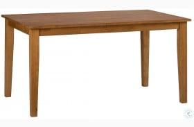 Simplicity Honey Rectangular Dining Table