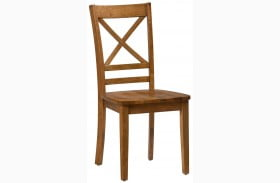 Simplicity Honey Finish X Back Chair Set of 2