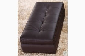 397 Chocolate Italian Leather Ottoman