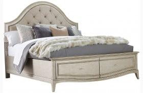 Starlite Silver Upholstered Storage Panel Bed