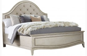 Starlite Silver Upholstered Panel Bed