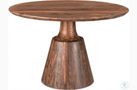 Brownstone Nut Brown Round Dining Table