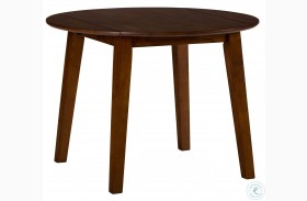 Simplicity Caramel Extendable Round Drop-Leaf Dining Table