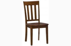 Simplicity Caramel Slat Back Chair Set of 2