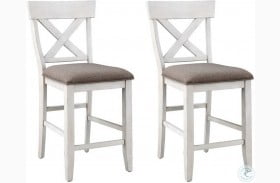 Bar Harbor Ii Cream Adjustable Counter Height Dining Chair Set Of 2