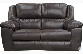 Transformer II Chocolate Leather Power Reclining Loveseat
