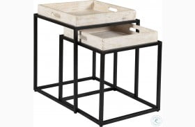 Merrimack White Wash And Black Nesting Tables Set Of 2