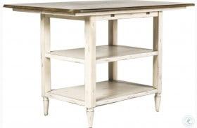 Oak Hill Tan Smoke & Antique White Extendable Center Island Table