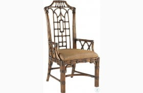 Royal Kahala Pacific Rim Woven Fabric Arm Chair