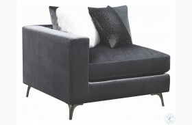 Schwartzman Charcoal Velvet Arm Chair