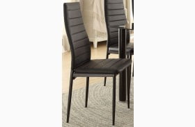 Florian Black Side Chair Set of 2