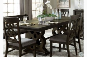 Arasina Distressed Dark Pewter Extendable Rectangular Dining Table