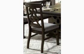 Arasina Distressed Dark Side Chair Set of 2