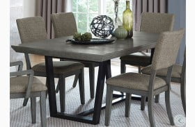 Avenhorn Gray Extendable Rectangular Dining Table