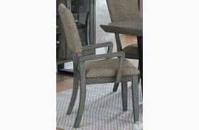 Avenhorn Gray Arm Chair Set of 2