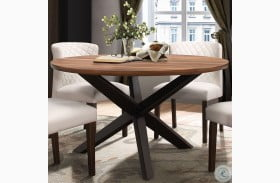 Nelina Brown Round Dining Table
