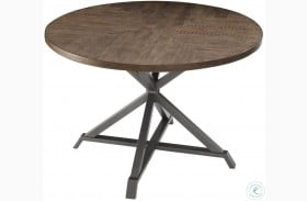 Fideo Brown Round Dining Table