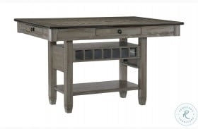 Granby Coffee And Antique Gray Counter Height Dining Table