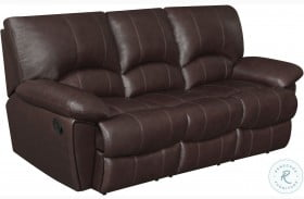 Clifford Chocolate Leather Double Reclining Sofa