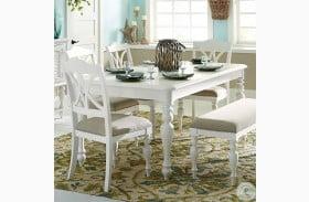 Summer House Oyster White Extendable Rectangular Leg Table