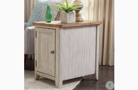 Farmhouse Reimagined Antique White Chairside Table