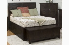 Kona Grove Rustic Chocolate Finish Panel Storage Bed