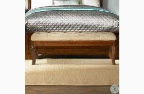 Alexandria Autumn Brown Bed Bench