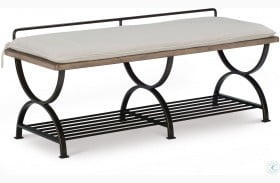 Monteverdi Sun-Bleached Cypress Bed Bench by Rachael Ray