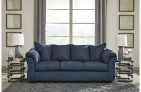 Darcy Blue Finish Sofa