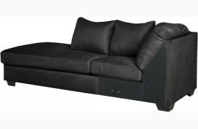 Darcy Black LAF Corner Chaise