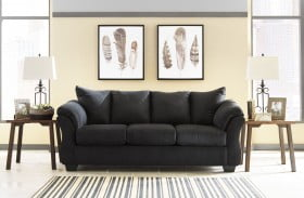 Darcy Black Finish Sofa