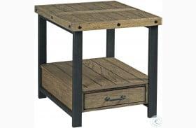 Hamilton Workbench Rustic Rectangular End Table