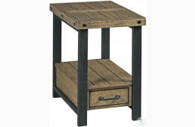 Hamilton Workbench Rustic Chairside Table