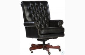 Black Tufted Back Leather Executive Chair