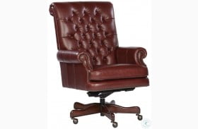 Merlot Tufted Back Leather Executive Chair