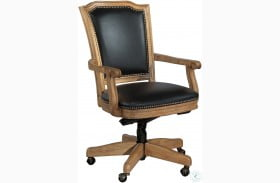 Black Wood Frame Office Executive Chair