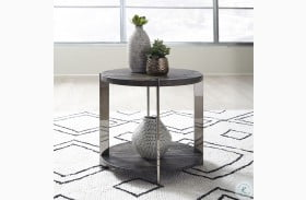 Paxton Charcoal And Chrome End Table
