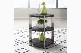 Paxton Charcoal And Chrome Side Table