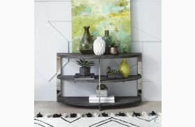 Paxton Charcoal And Chrome Sofa Table