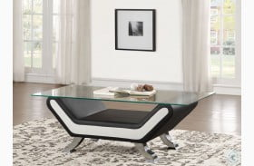 Veloce Black and White Cocktail Table
