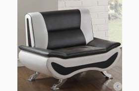 Veloce Black and White Chair