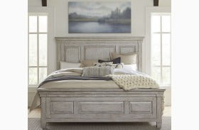 Heartland Antique White Panel Bed