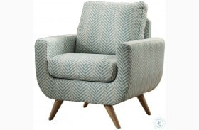 Deryn Blue Accent Chair