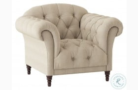 St. Claire Brown Fabric Chair