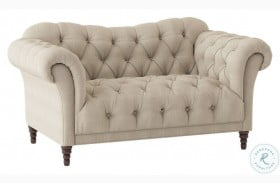 St. Claire Brown Fabric Loveseat