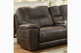 Columbus Brown Finish LAF Reclining Chair