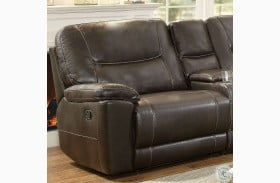 Columbus Brown LAF Reclining Chair
